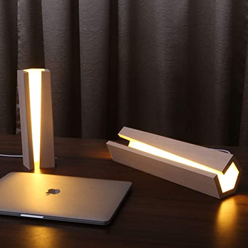 . Amazon com  Arturesthome Natural Wood Lamp  Modern Led Desk Light