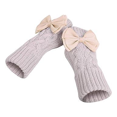 Spriteman Fingerlose Handschuhdamen Winter Warm Fingerlos