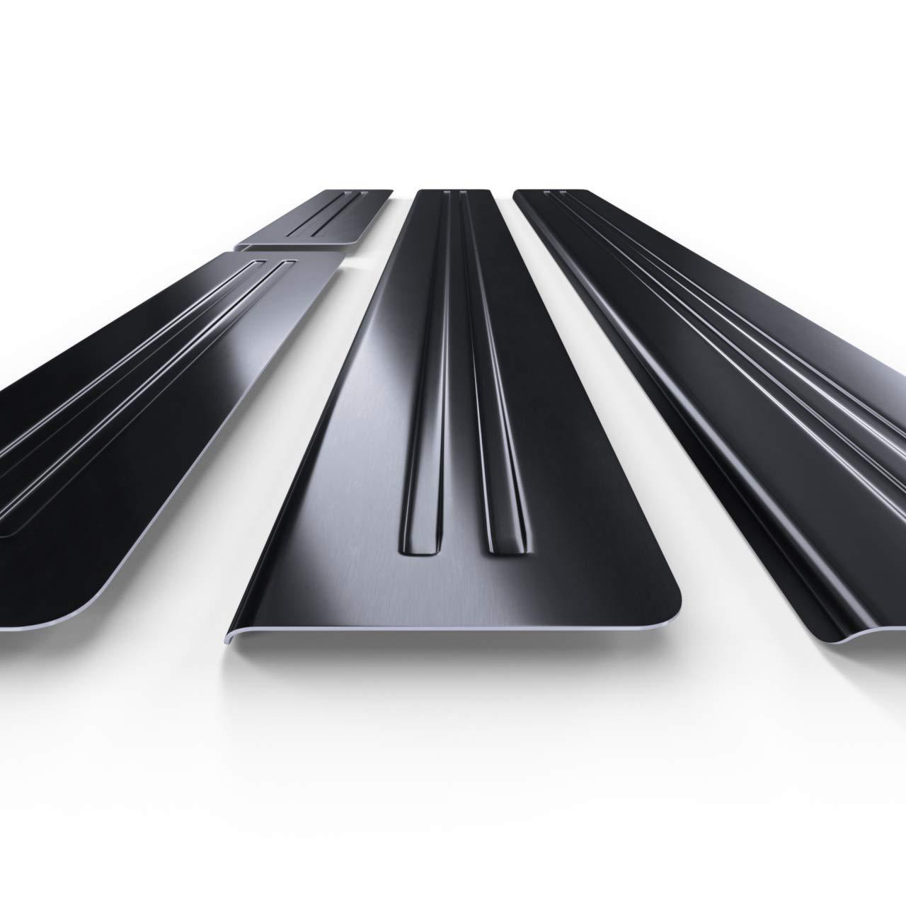 Protectores de acero para umbral de coche negro 5902538681810 kit de 4 piezas