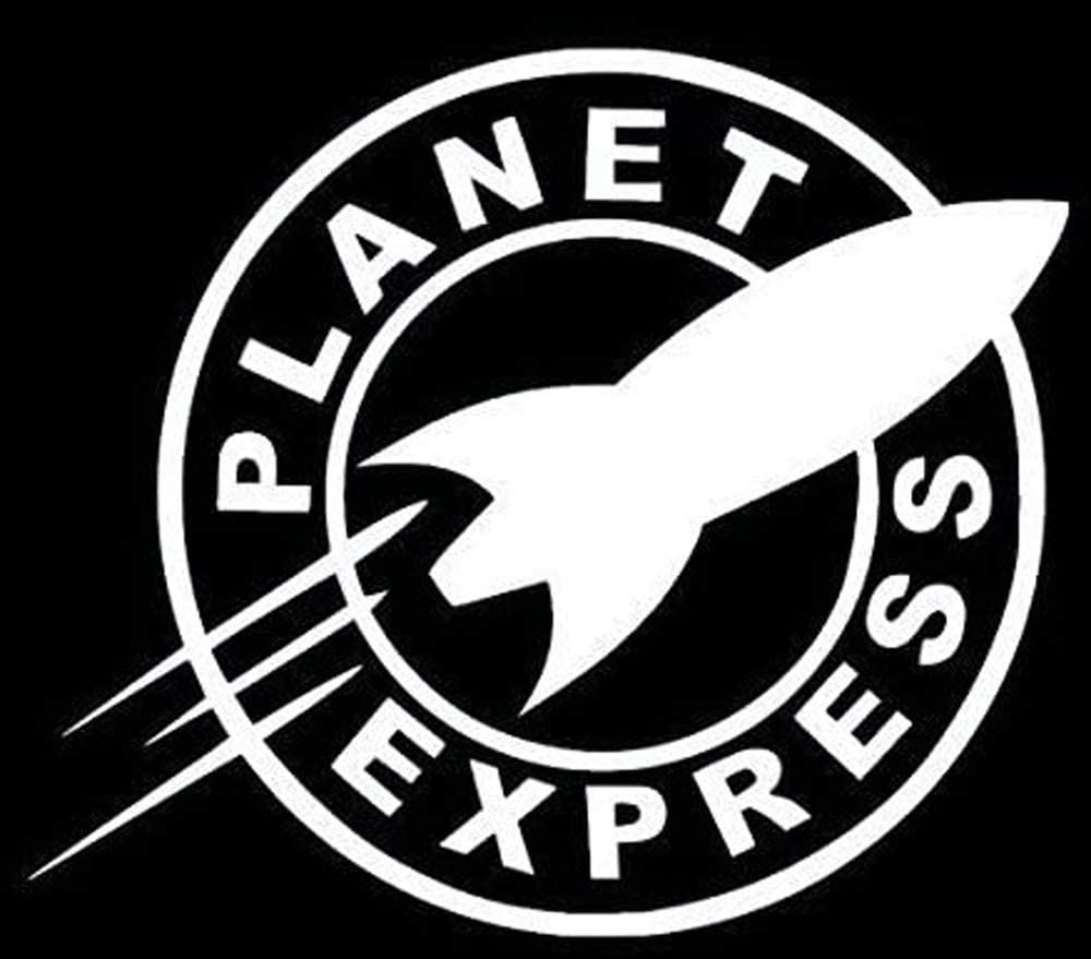 HTradings Car Bumper Sticker Planet Express for Truck Laptop White 5 inches Approximately