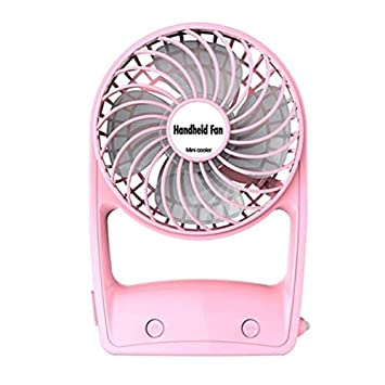 Pink USB Cooling Fan Mini Portable Quiet USB Desk Fan Home Office Electric Laptop Computer Air Cooler for Car Office Household Outdoor