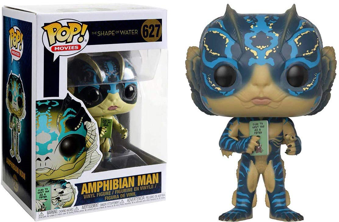 Funko Shape of Water Vinyl Figure Includes Compatible Pop Box Protector Case Amphibian Man with Card Pop