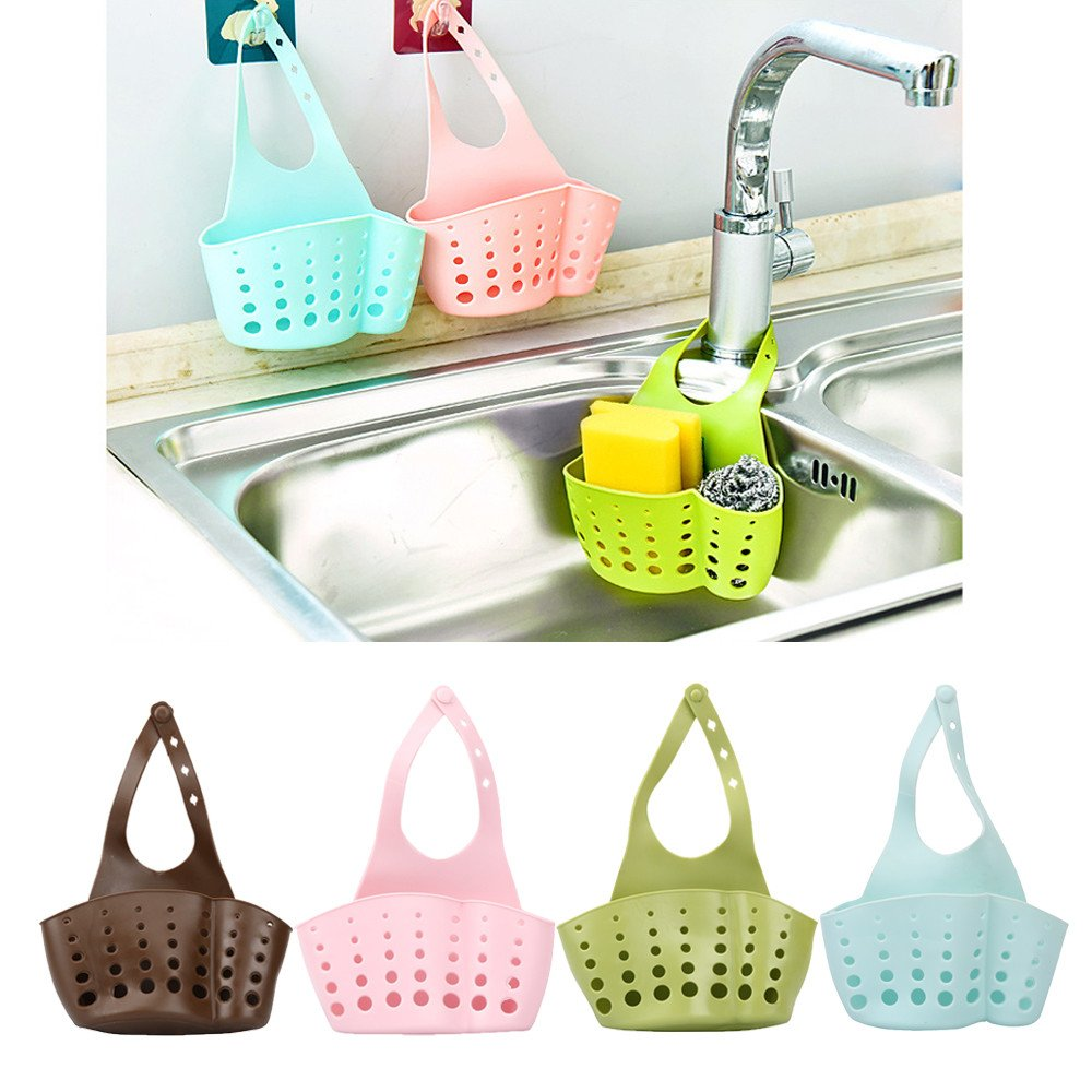 LILACORP Portable Basket Home Kitchen Hanging Drain Basket Bag Bath Storage Tools Sink Holder Kitchen Accessory vaciar cesta by LILACORP