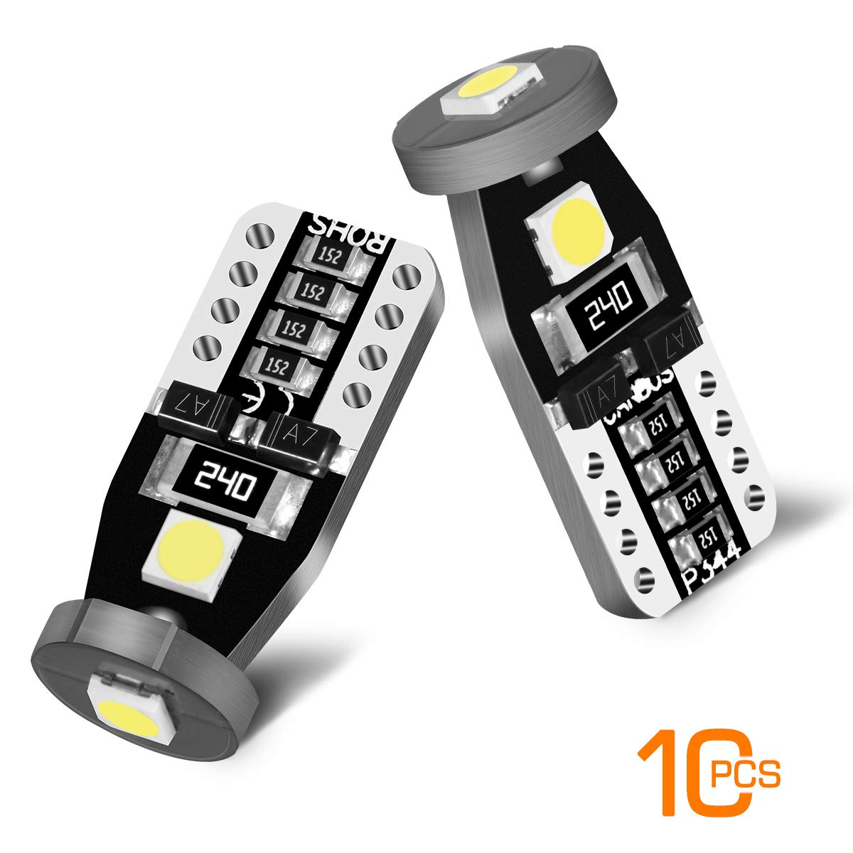 Pack of 10 194 168 T10 LED Dome Lights Bulb AUTOBEAM A1 Series LED Replacement Bulbs for Car Dome Map Door Courtesy License Plate Lights 6000K