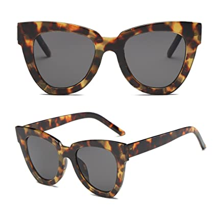 cfb267164d44 Amazon.com: BCHZ Women Lady Retro Cat Eye Sunglasses Designer Square Frame  Eyeglass Shades UV Protection (Tortoiseshell+Grey): Home & Kitchen
