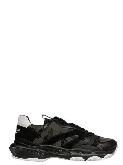 Valentino Hombre RY0S0B05VMU0NO Negro Tela Zapatillas: Amazon.es: Zapatos y complementos