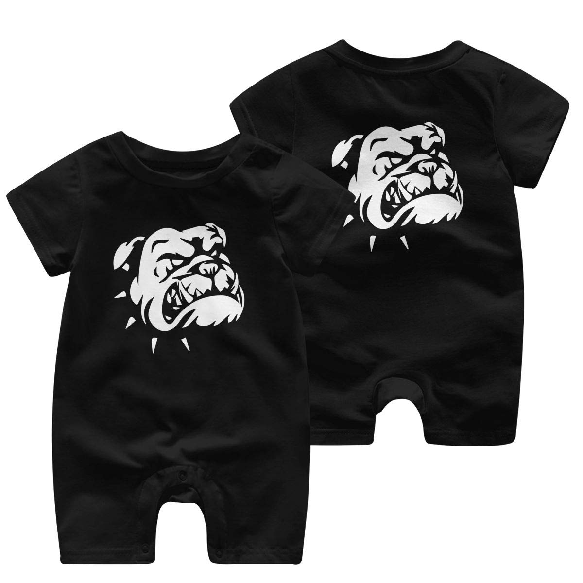 Georgia Bulldog Romper Short Sleeve Basic Romper Coveralls Cute Double Sides Print Baby Boy//Girl Playsuit Jumpsuits