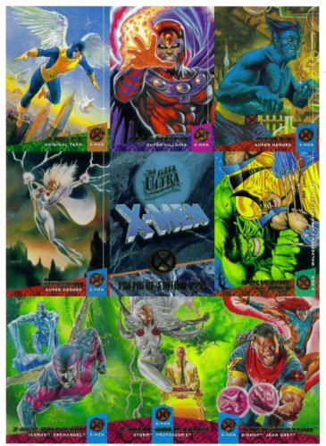 (1994 Fleer Ultra X-Men Premiere Edition Trading Cards Promo One-Sheet)