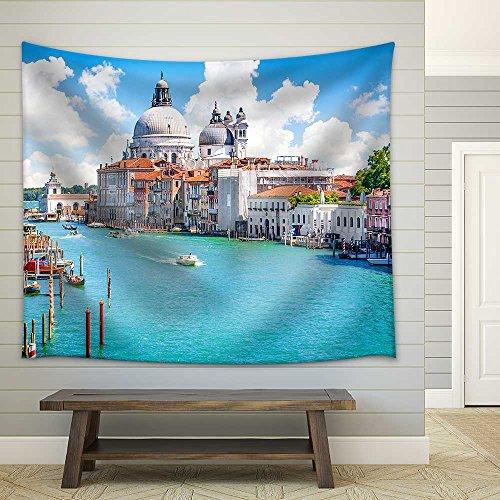 wall26 - Grand Canal with Basilica Di Santa Maria Della Salute, Venice, Italy - Fabric Wall Tapestry Home Decor - 68x80 inches