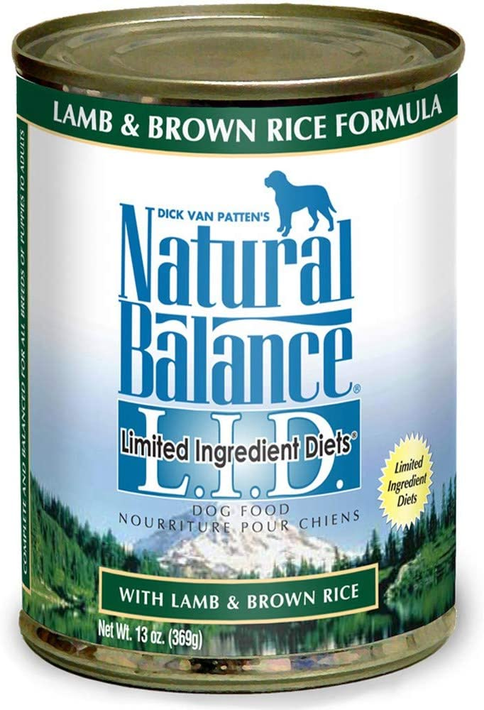Natural Balance Limited Ingredient Diets Lamb & Brown Rice Formula Canned Dog Food, Case of 12