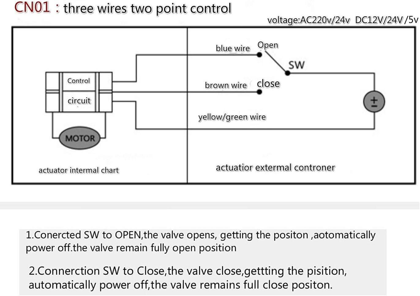 no-branded 3 Way AC220V//24V DC5V//12V//24V Brass Motorized Ball Valve Electric Ball Valve Electric Actuator Valve ZYUS Specification : DN32, Voltage : DC12V