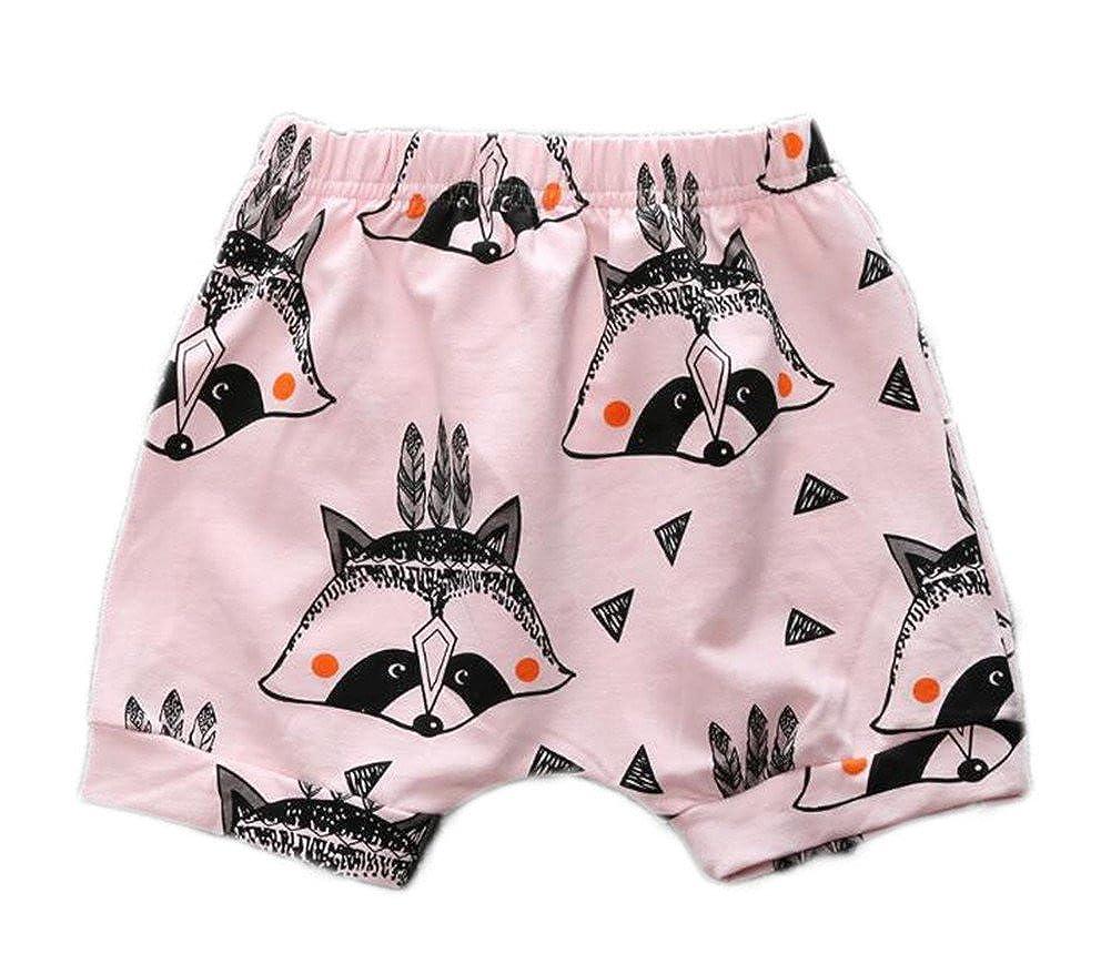 Infant Baby Boys Girls Animal Printed Elastic Waist Cotton Haren Shorts LOOLYTZ00180