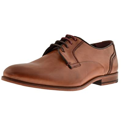 5f27eeadef0626 ... Mens Ted Baker Iront Leather Derby Shoes Brown 11 45 Amazon co