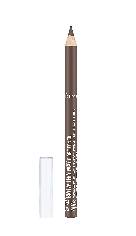 Rimmel Brow This Way Fibre Pencil, Medium Brown, 0.05 Ounce