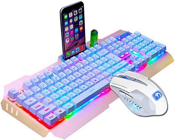 SUImeito Teclado Gaming M938 LED retroiluminado USB Teclado ...