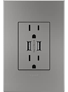 Legrand Adorne ARTRUSB153M4 Dual USB  Plus size Combo Outlet  MagnesiumAmazon com  ON Q Lighting System Controllers Whole House Lighting  . Adorne Lighting Control. Home Design Ideas