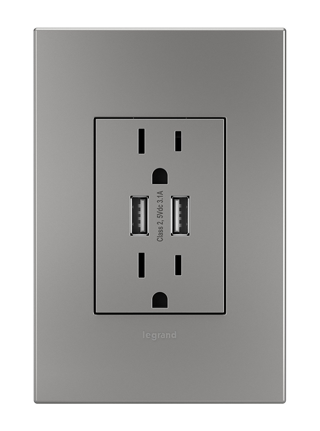 Legrand Adorne ARTRUSB153M4 Dual USB, Plus-size Combo Outlet ...