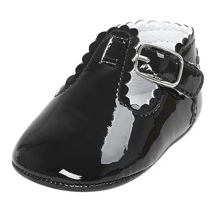 Zapatos para bebés de 0 a 18 meses, zapatillas de princesa con letra cuadrada,