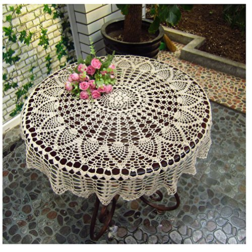 Wshine Vintage Crochet Round Table Cover Lace Doilies