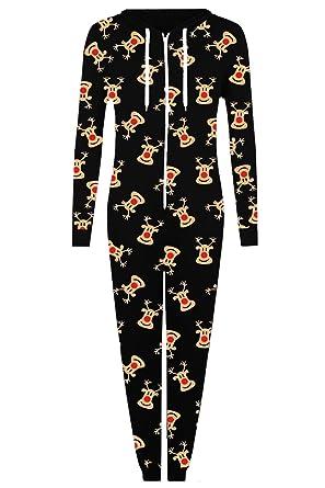 58b7d56d5be4 Womens Ladies Christmas Santa Reindeer Snowman All In One Piece ...