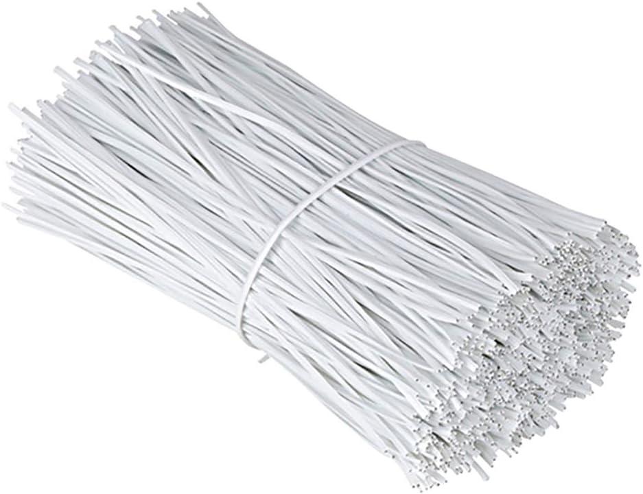 Chingde Fil Enduit en Plastique Cravates torsad/ées Plastique pour Regroupement m/étiers Fixation Cravates demballage Attaches Torsion c/âble 200 pi/èces Serre c/âbles Plastique Blanc