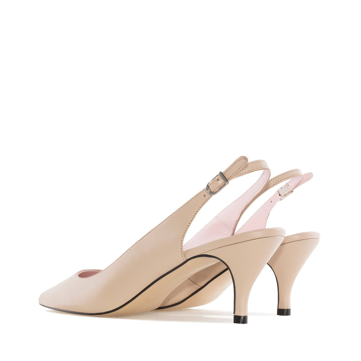 Andres Machado Fine Toe Slingback Shoes in Beige Leather, 43 M EU/11.5 B (M) US by Andres Machado (Image #3)
