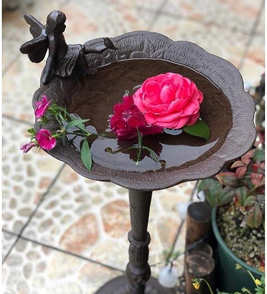 ZHUZHUXIA Decoración De Jardín,Hada De Hierro/Comedero Pixie Angel Bird En El Patio De Jardín Decoración Característica Estatua 26 * 26 * 60cm: Amazon.es: Hogar