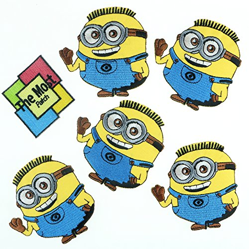 Lot Of 6 (5+1) Minions Smile Bye Despicable Me Embroidered Iron/Sew On (Fairy Iron)