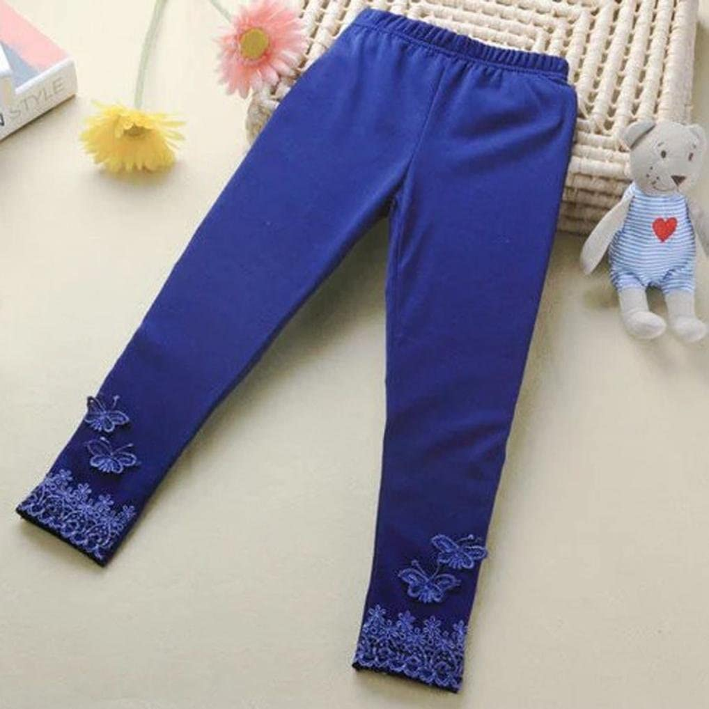 Digood Infant Kids Baby Child Girl Butterfly Lace Elastic Dancing Pants Trousers Clothes Leggings