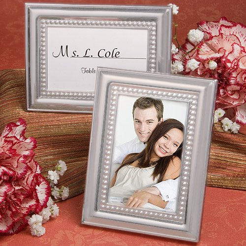 100 Matte Silver Metal Place Card / Photo Frames by Fashioncraft