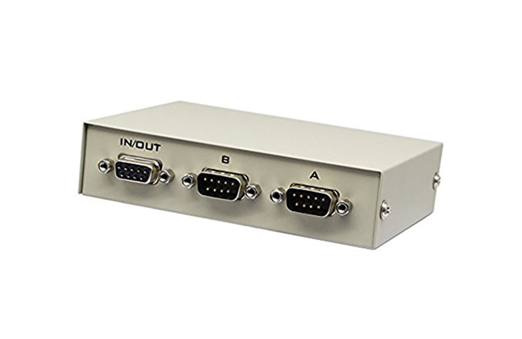2 Way Manual AB Data Switch DB9 DB 9 RS-232 1 Female In 2 Male Out Serial Port