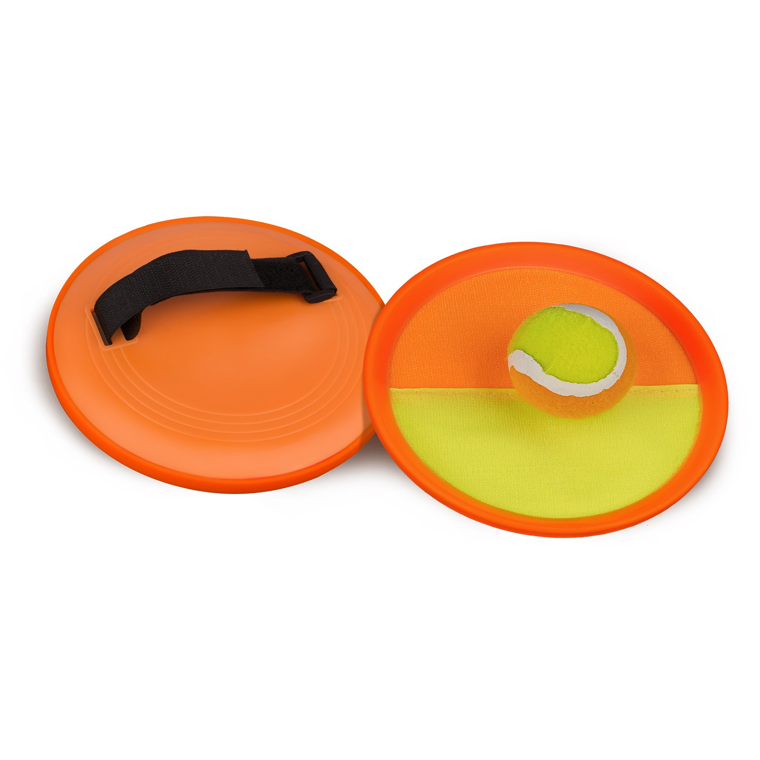 Abco Tech Paddle Toss and Catch Game Set - Self-Stick Disc Paddles and Toss Ball Sport Game - Equally Suitable Game for Kids by Abco Tech (Image #8)