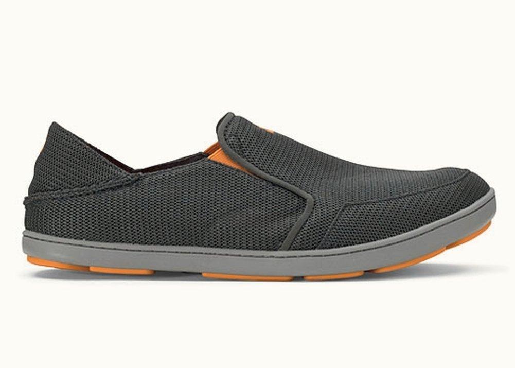 OLUKAI Men's Nohea Mesh Slip-On Shoes, Dark Shadow/Dark Shadow, 10 M US