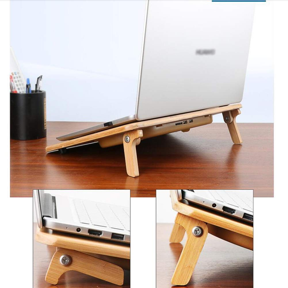 Ho,ney Wooden Laptop Radiator - Folding Portable Dual USB Baffle Adjustment, 2 Variable Heights for 17'' -1053 Notebook Cooler by Ho,ney (Image #6)