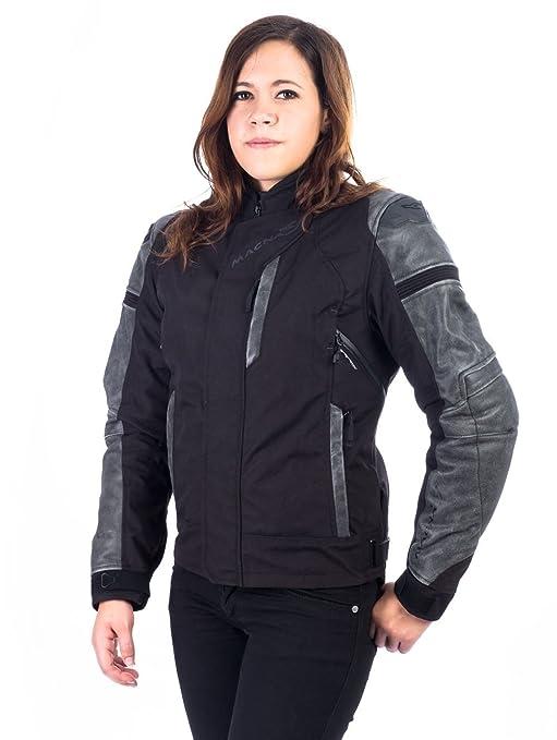MACNA CLASH Damen TextilLederjacke schwarz XS