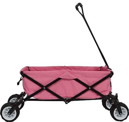 Impact Canopies 440010019-VC Impact Canopy Collapsible FoldingBeach Wagon  Utility Garden Shopping Cart (Pink)