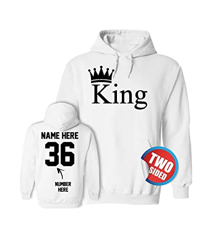 Amazon.com: King Queen Hoodies - Matching Couple Sweaters Valentines Sweatshirts for Couples: Clothing