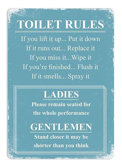 Cartel para el baño
