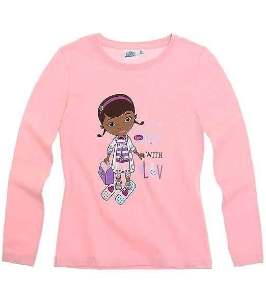 8fab4b74b Disney Doctora Juguetes Chicas Camiseta mangas largas - Rosa - 128   Amazon.es  Ropa y accesorios