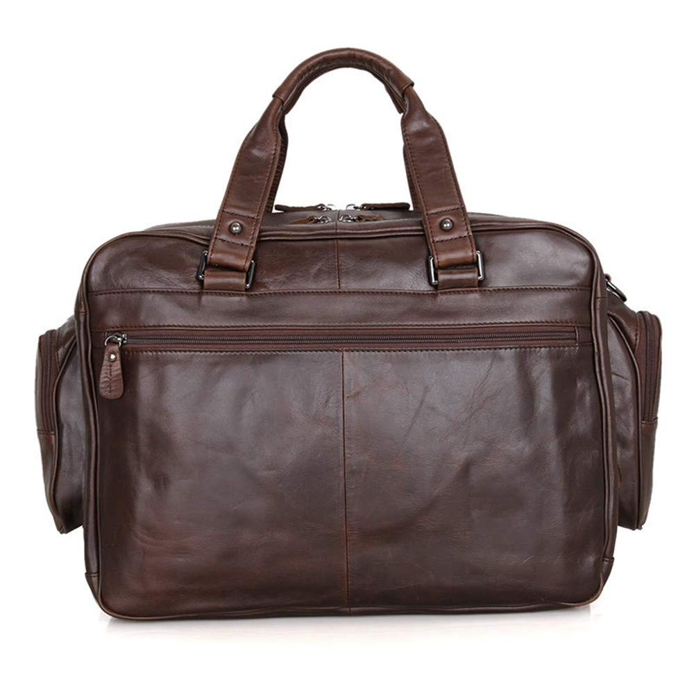 40.5x18x32cm Briefcase Brown MLMHLMR Leather Briefcase Mens Bag Classic Simple Large Capacity Leather Tote Shoulder Crossbody Bag
