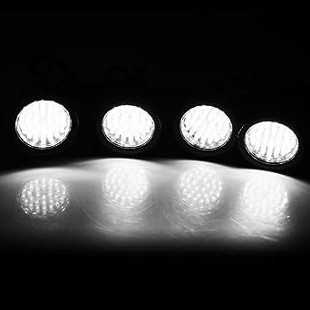 Paquete 4 Lámpara Acuario Sumergible Submarino (5.5W, 36 LED, Luz Blanco, IP68 Impermeable, 180 Grados Ajustable, con Ventosa) Iluminación para Pecera: ...