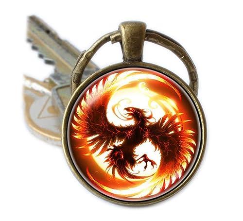 Phoenix llavero Fantasía clave cadena Phoenix pájaro de ...