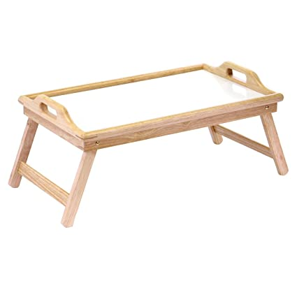 Lap TV Tray Table W Wood Frame U0026 Handles