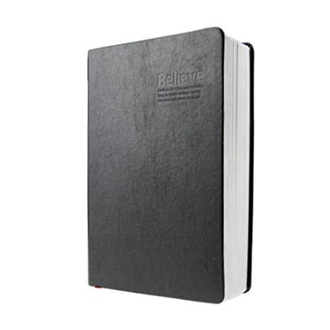 A5 Soft Black Faux Leather Cover Vintage Retro Bible Style Super Thick 320 Sheets Eye Care Paper Writing Notebook Journal Book Lined Diary
