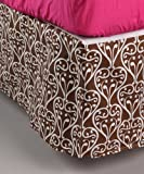 Bacati Damask Pink/Chocolate Full Bed Skirt - Best Reviews Guide