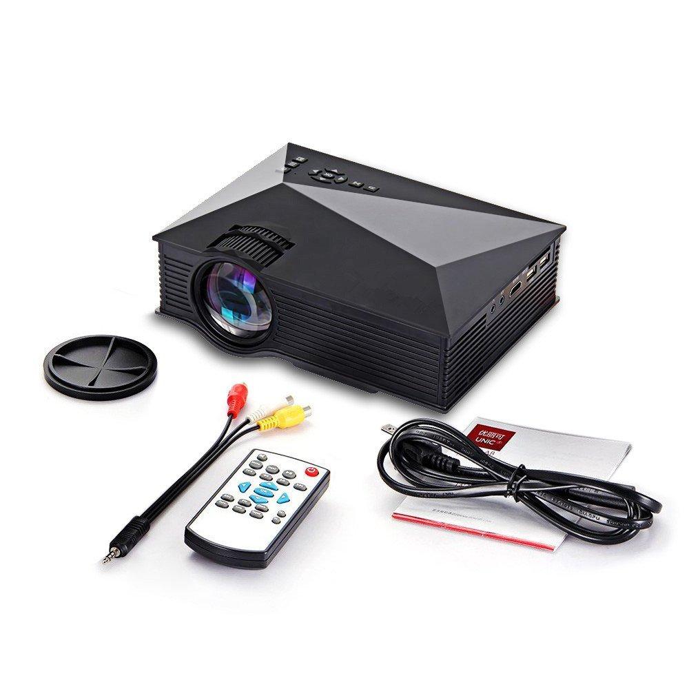 PYRUS UC46 mini proyector de vídeo 1200 lúmenes a todo color 130 ...