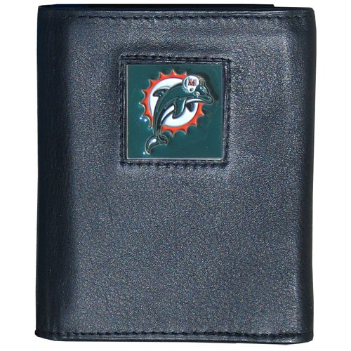 NFL Miami Dolphins Leather Tri-Fold Wallet