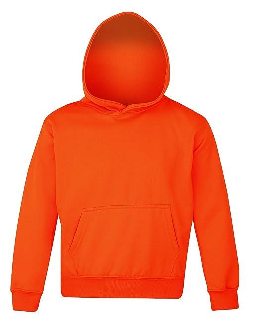AWDis - Sudadera con capucha - para niño Naranja naranja: Amazon.es: Ropa y accesorios