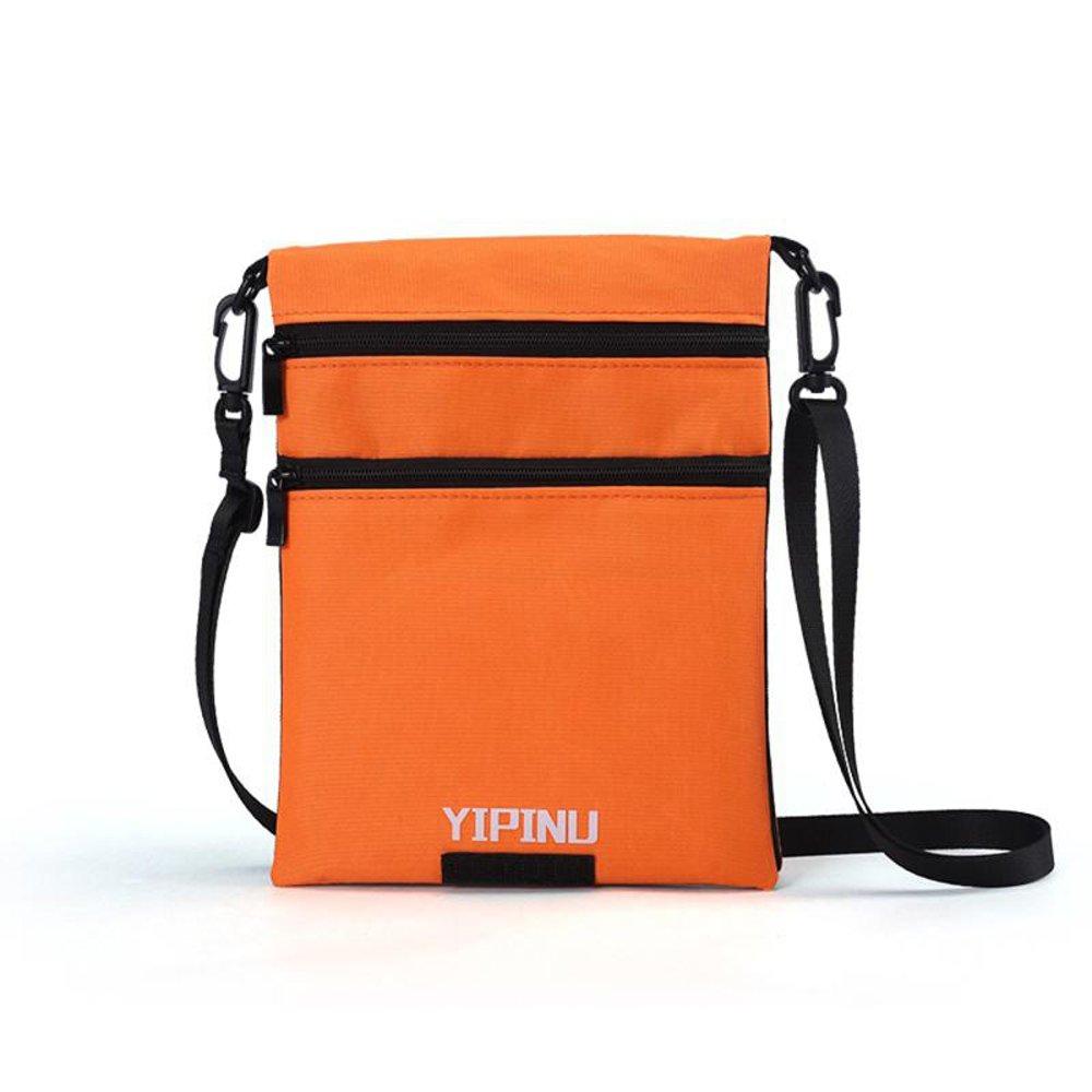 ネックポーチホルダー - 防水パスポートウォレット 両面 機能付き 旅行ポーチ 男女兼用 レッド  オレンジ B07CT2LW8G