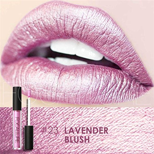 Fashion Waterproof Long-Lasting Matte Liquid Lipstick Cosmetic Sexy Lip Gloss Kit for Women (23#) (Duo Lip Colour Palette)